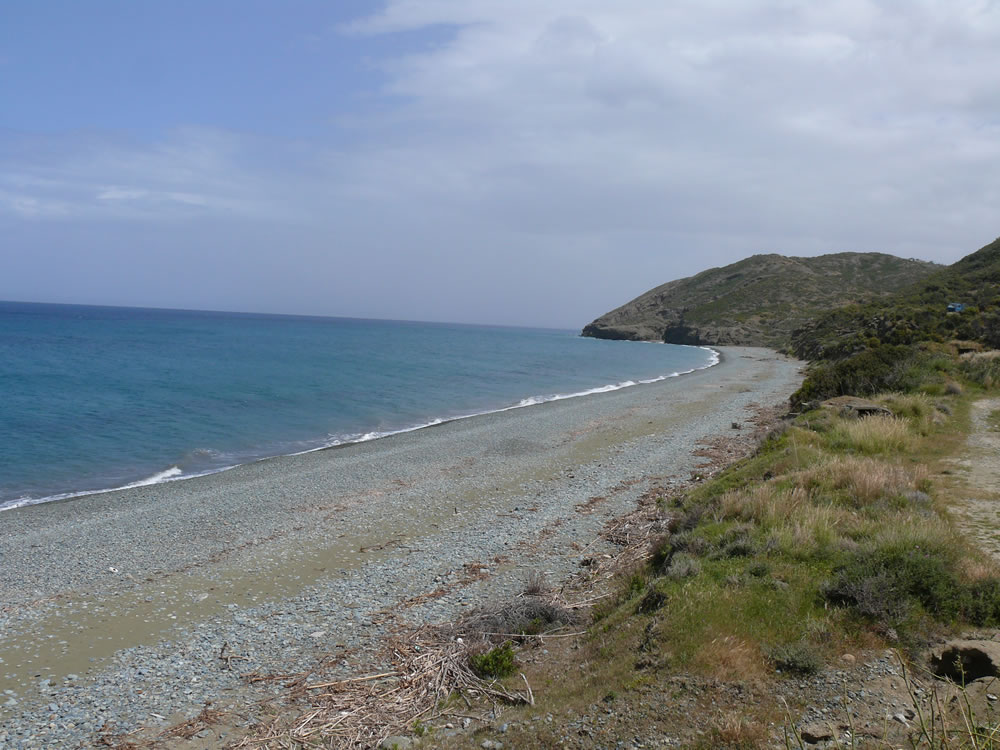 At Pyrgos tis Tyllirias coast
