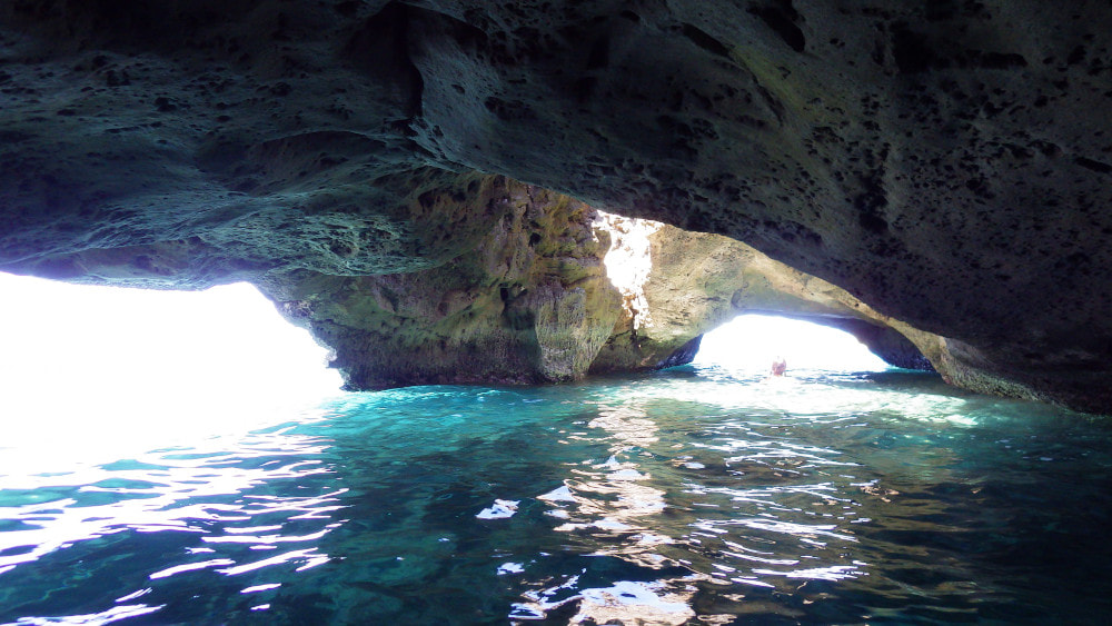 A two entry sea cave