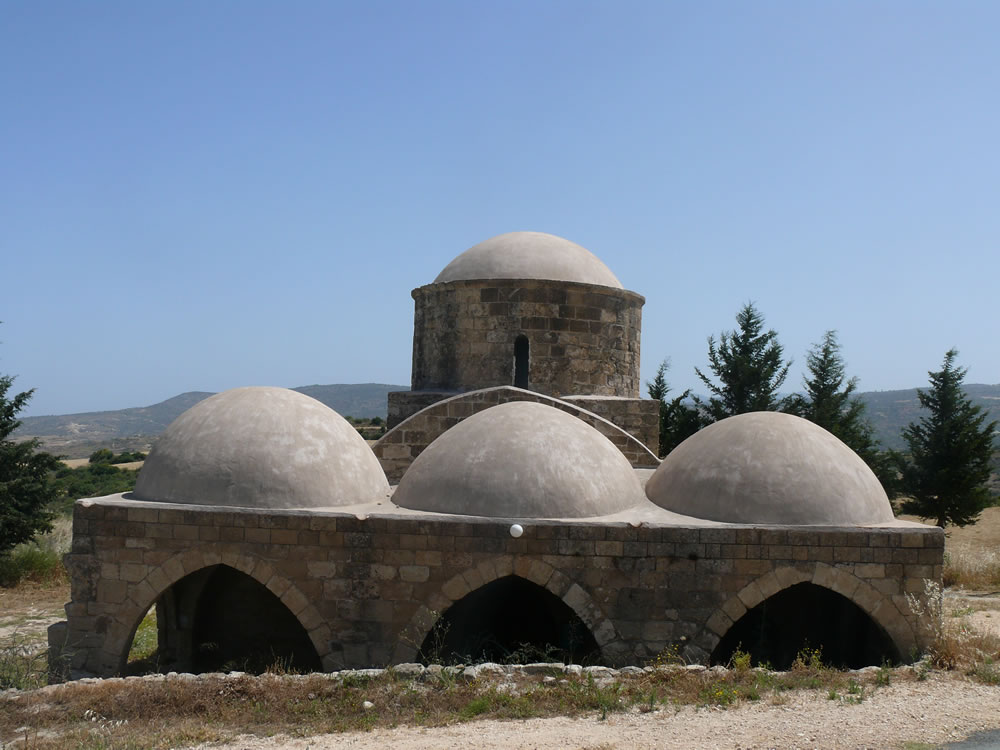 A multi-domed Greek Orthodox medieval chapel