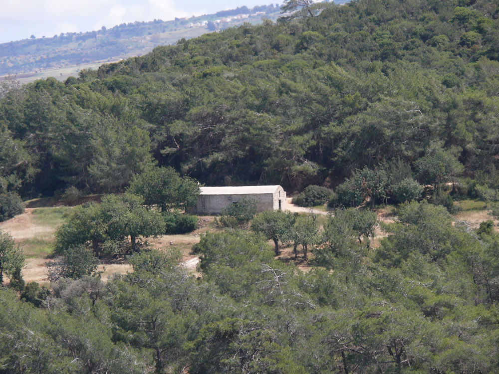 Agios Minas medieval chapel from a distance
